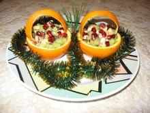 """Новогодний десерт """"Апельсиновые лукошки"""""""