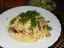 """Спагетти """"Фирменные"""" с грибами и томатным соусом"""