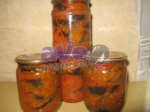 Заготовка из баклажанов на зиму рецепты с пошагово