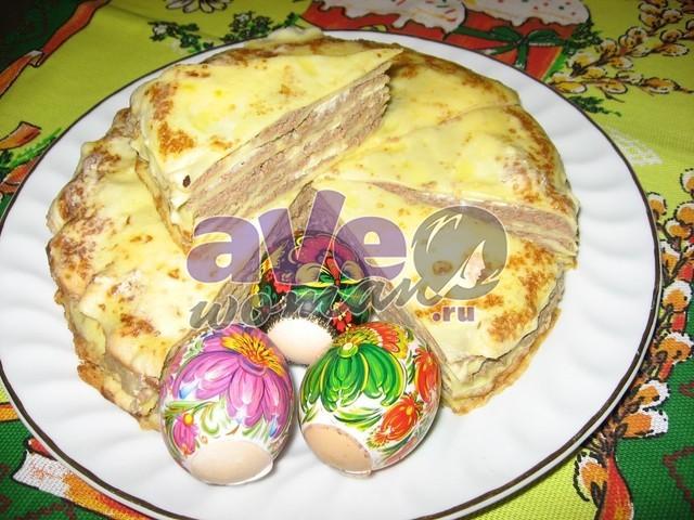 Блинный печеночный торт