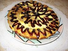 Блинный пирог с вишней