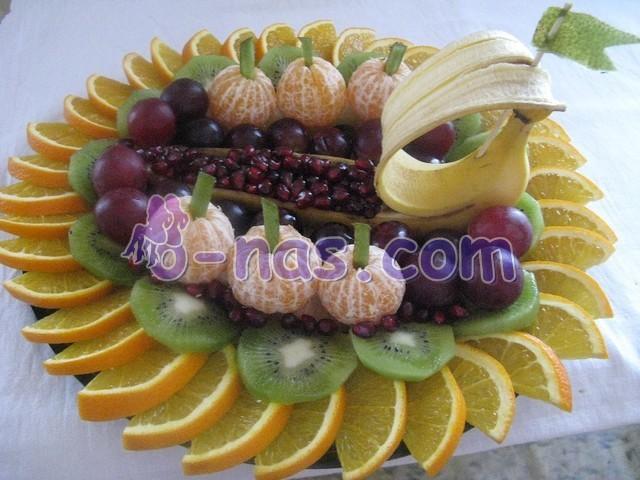 простая фруктовая нарезка
