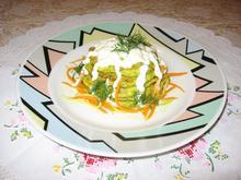 Оладьи кабачковые с сыром, морковью и укропом