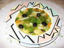 Овощной суп с клецками