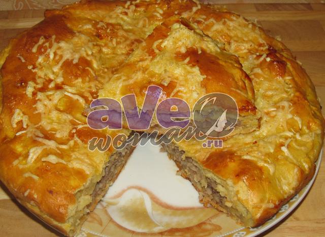 Как сделать пирог с картошкой и мясом в духовке