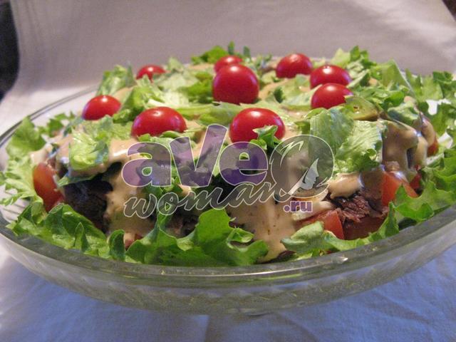 Праздничный мясной салат рецепт