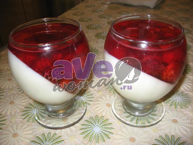 желе молочно-малиновое рецепт и фото